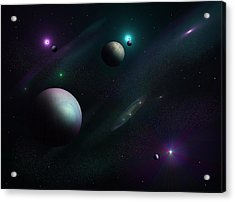 Planets Beyond Our Solar System Acrylic Print by Ricky Haug