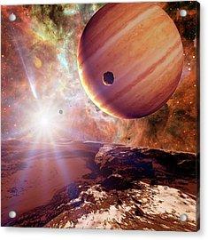 Planets In Ngc 2440 Planetary Nebula Acrylic Print
