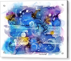 Planets Acrylic Print by Michele Angel