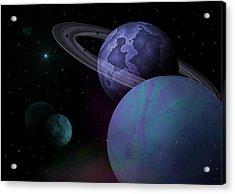 Planets Vs. Dwarf Planets Acrylic Print by Ricky Haug