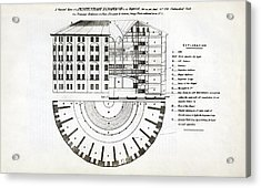 Plans For A Panopticon Prison Acrylic Print by British Library