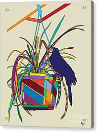 Plant Bird Pop Acrylic Print