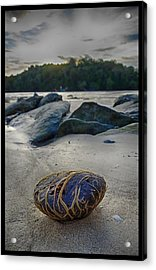 Plant-covered Rock In Krabi Acrylic Print by River Engel