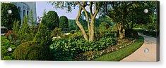 Plants In A Garden, Bahai Temple Acrylic Print