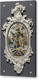 Plaque Depicting Jacob Choosing Rachel To Be His Bride Acrylic Print by Litz Collection