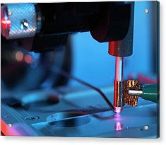 Plasma-assisted Desorption Ionisation Acrylic Print by Andrew Brookes, National Physical Laboratory