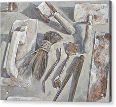 Plasterer Tools 1 Acrylic Print by Anke Classen