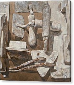 Plasterer's Tools 2 Acrylic Print by Anke Classen