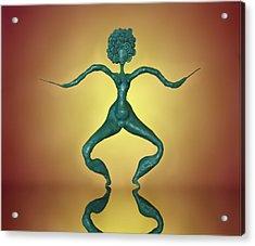 Plasticine Dancing Figure Acrylic Print by Vladimir Kholostykh