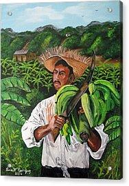 Platano Man Acrylic Print by Luis F Rodriguez