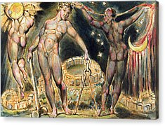 Plate 100 From Jerusalem Acrylic Print by William Blake