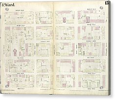 Plate 13 Map Bounded By Concord Street, Duffield Street Acrylic Print by Litz Collection