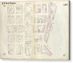 Plate 14 Map Bounded By Market, James Street, York Street Acrylic Print by Litz Collection