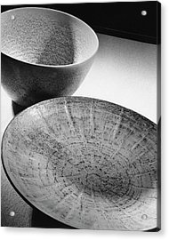 Plate And Bowl Acrylic Print by Andr? Kert?sz