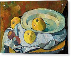 Plate Of Apples Acrylic Print by Paul Serusier