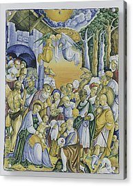 Plate With The Adoration Of Jesus By The Magi Acrylic Print