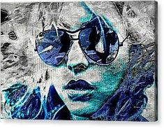 Platinum Blondie Acrylic Print by Absinthe Art By Michelle LeAnn Scott
