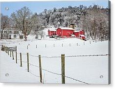Platt Farm Acrylic Print by Bill Wakeley