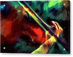 Play Gypsy Play - Abstract Realism Acrylic Print by Georgiana Romanovna