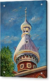 Acrylic Print featuring the painting Play Of Light - University Of Tampa by Roxanne Tobaison