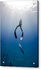 Play Acrylic Print by One ocean One breath