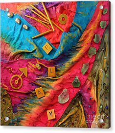 Play Silk Collage Acrylic Print