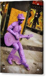 Play The Music - Madrid Acrylic Print by Mary Machare