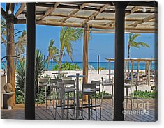 Playa Blanca Restaurant Bar Area Punta Cana Dominican Republic Acrylic Print