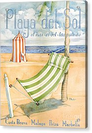 Playa Del Sol Acrylic Print by Paul Brent