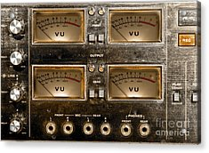 Playback Recording Vu Meters Grunge Acrylic Print by Gunter Nezhoda