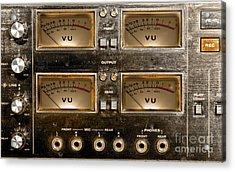 Playback Recording Vu Meters Grunge Acrylic Print