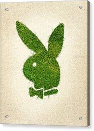 Playboy Grass Logo Acrylic Print by Aged Pixel