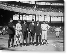 Players And Umps - 1921 World Series Acrylic Print by Mountain Dreams