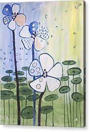Playful Daisies  Acrylic Print