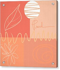 Playful Peach Acrylic Print