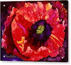 Playful Poppy Acrylic Print