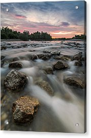 Playful River Acrylic Print by Davorin Mance