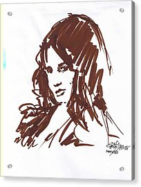 Acrylic Print featuring the drawing Playful by Seth Weaver