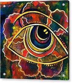 Acrylic Print featuring the painting Playful Spirit Eye by Deborha Kerr