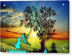 Playful Sunset Acrylic Print by Marvin Blaine
