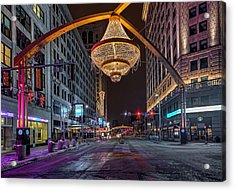 Playhouse Square Chandelier  Acrylic Print