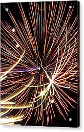 Playin With Fireworks Acrylic Print by Michael Nowotny