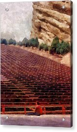 Playing At Red Rocks Acrylic Print by Michelle Calkins