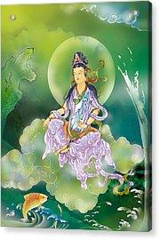 Acrylic Print featuring the photograph Playing Avalokitesvara   by Lanjee Chee