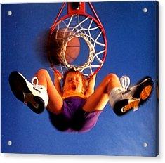 Playing Basketball Acrylic Print by Lanjee Chee