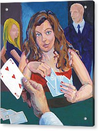 Playing Cards Acrylic Print by Mike Jory