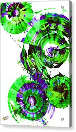 Acrylic Print featuring the painting Playing In The Wind 1000.042312 - Popart-2 by Kris Haas