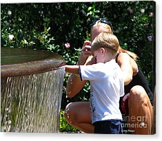 Playing In Water Acrylic Print by Greg Patzer