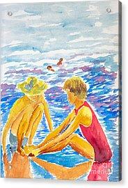 Playing On The Beach Acrylic Print
