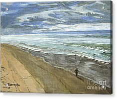 Acrylic Print featuring the painting Playing On The Oregon Coast by Ian Donley
